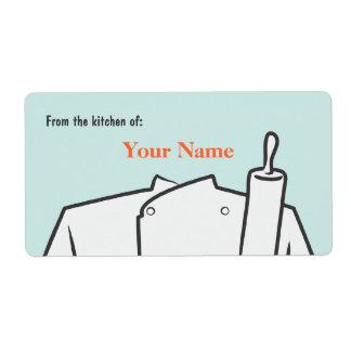 Etiqueta del chef de repostería etiquetas de envío
