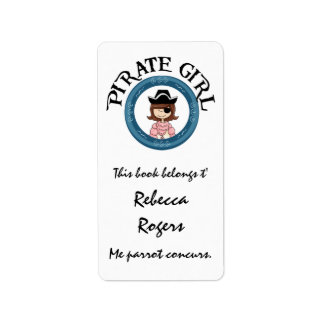 Etiqueta del chica del pirata