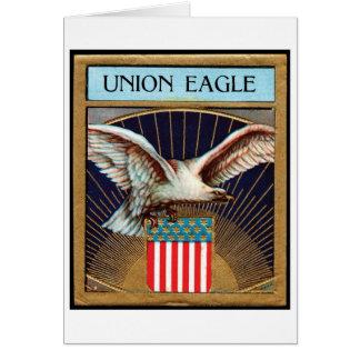 Etiqueta del cigarro de Eagle de la unión - patrió Tarjeta De Felicitación
