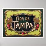 Etiqueta del cigarro de Flor de Tampa Poster