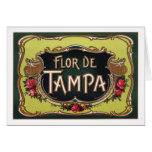 Etiqueta del cigarro de Flor de Tampa Tarjeta De Felicitación