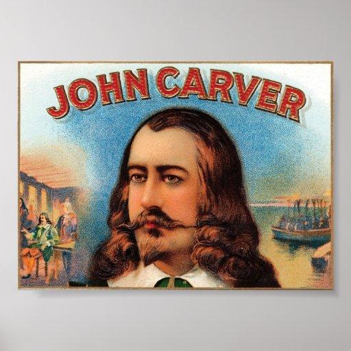 Etiqueta del cigarro de Juan Carver Poster
