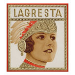 Etiqueta del cigarro de Lagresta Impresiones