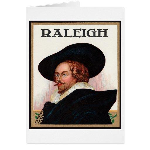 Etiqueta del cigarro de Raleigh Tarjetas