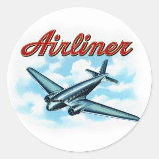 Etiqueta del cigarro del avión de pasajeros del