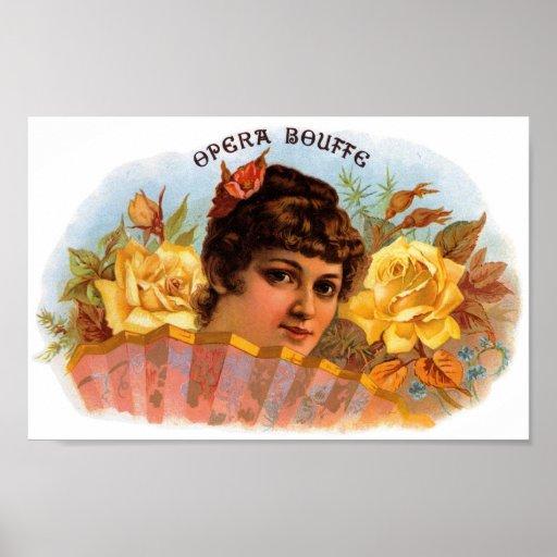 Etiqueta del cigarro del Bouffe de ópera Impresiones