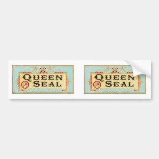 Etiqueta del cigarro del sello de la reina del vin pegatina de parachoque