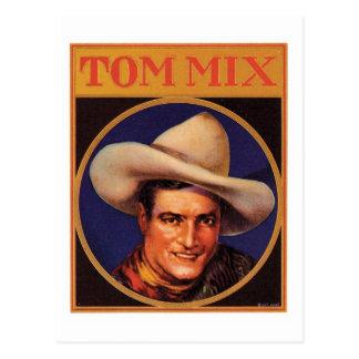 Etiqueta del cigarro del vaquero de Tom Mix del Tarjetas Postales