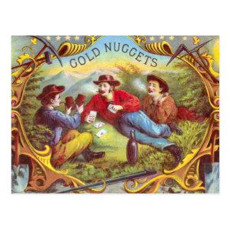 Etiqueta del cigarro del vintage de las pepitas de postal