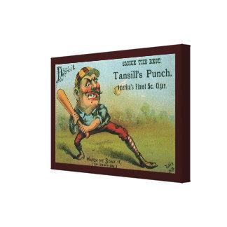 Etiqueta del cigarro del vintage, sacador de lona estirada galerias