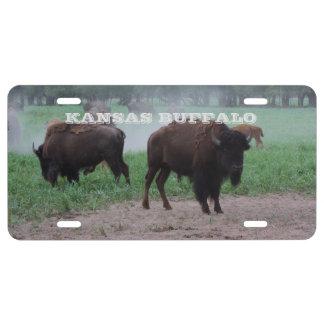 Etiqueta del coche del búfalo de Kansas Placa De Matrícula