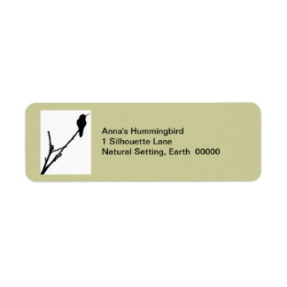 Etiqueta del colibrí de Ana Etiquetas De Remite