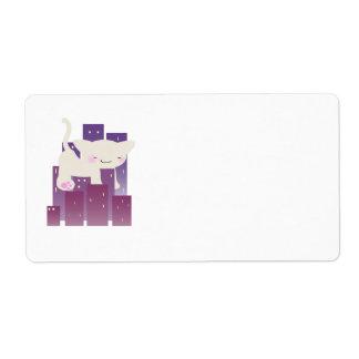 Etiqueta del conquistador del gatito etiquetas de envío