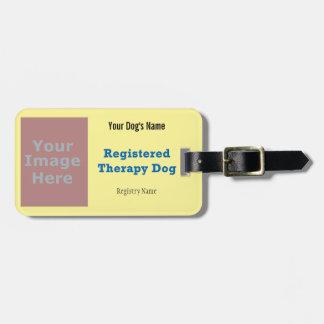 Etiqueta del correo - perro de la terapia etiquetas para maletas