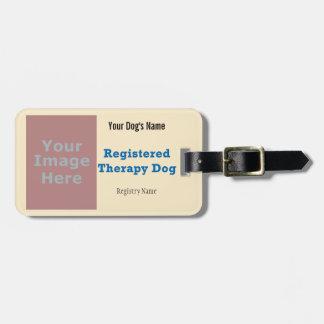 Etiqueta del correo - perro de la terapia etiquetas maleta