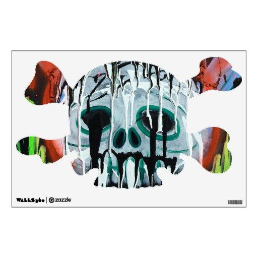 Etiqueta del cráneo de Siko y de la pared de la ba