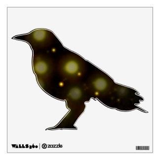 Etiqueta del cuervo de la explosión de la estrella