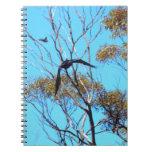 etiqueta del cuervo libros de apuntes con espiral
