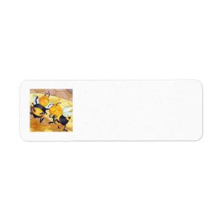 Etiqueta del danza de la abeja de la miel/del etiquetas de remite