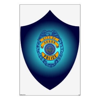 Etiqueta del Departamento de Policía de Akron Ohio Vinilo Adhesivo