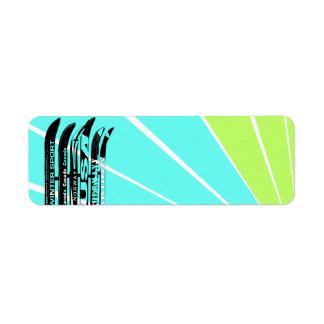Etiqueta del deporte de invierno del esquí etiqueta de remite
