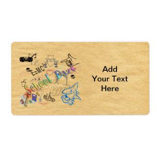 Etiqueta del deslumbramiento de la escuela etiquetas de envío