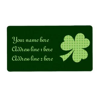 Etiqueta del día de St Patrick de los lunares del  Etiquetas De Envío