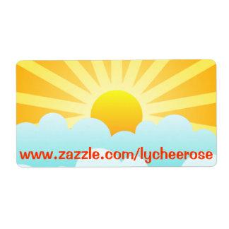 Etiqueta del día soleado etiqueta de envío