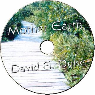 Etiqueta del disco de la madre tierra escultura fotográfica