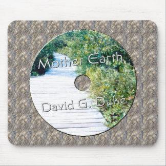 Etiqueta del disco de la madre tierra alfombrillas de ratón