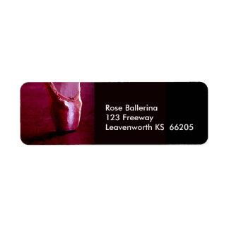 Etiqueta del diseñador del zapato de dedo del pie etiquetas de remite