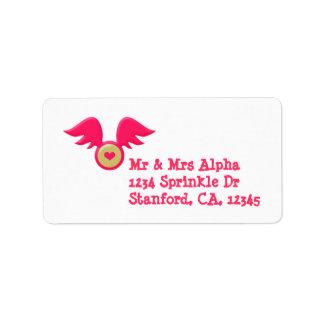 Etiqueta del el día de San Valentín Etiquetas De Dirección