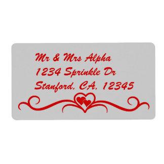 Etiqueta del el día de San Valentín Etiquetas De Envío