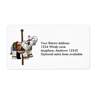 Etiqueta del elefante del carrusel etiquetas de envío