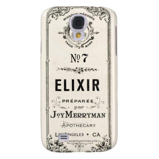 Etiqueta del elixir del boticario del vintage