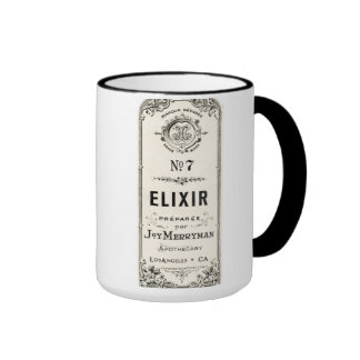 Etiqueta del elixir del boticario del vintage tazas de café
