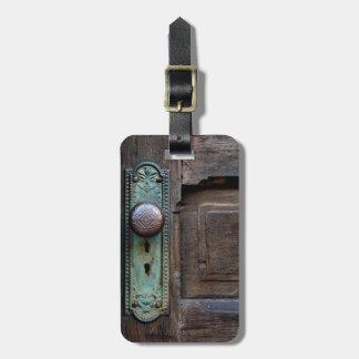 """Etiqueta del equipaje - """"botón de puerta viejo"""" etiquetas bolsas"""