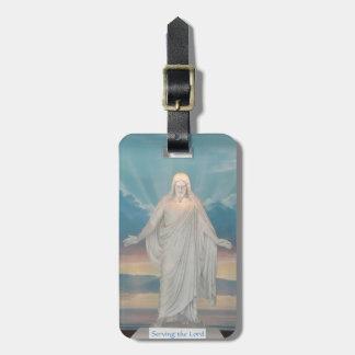 Etiqueta del equipaje con Jesucristo Etiquetas Bolsa