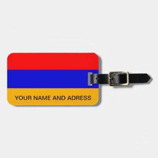 Etiqueta del equipaje con la bandera de Armenia Etiqueta De Equipaje