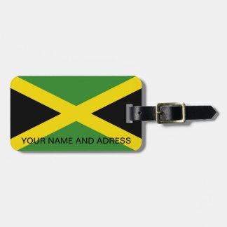 Etiqueta del equipaje con la bandera de Jamaica Etiqueta De Maleta