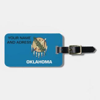 Etiqueta del equipaje con la bandera de Oklahoma Etiqueta Para Maleta