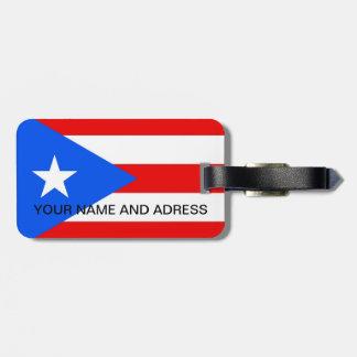 Etiqueta del equipaje con la bandera de Puerto Etiquetas Para Equipaje