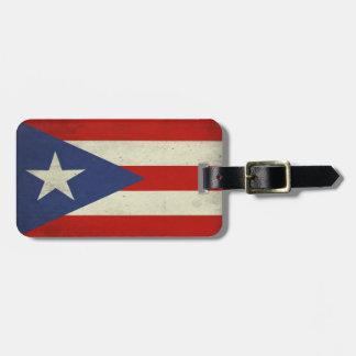 Etiqueta del equipaje con la bandera fresca de etiquetas bolsas