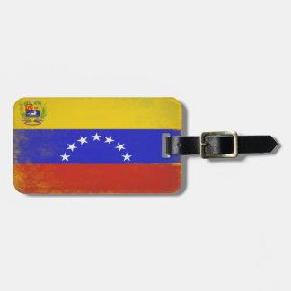 Etiqueta del equipaje con la bandera fresca de Ven Etiqueta Para Maleta
