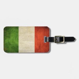 Etiqueta del equipaje con la bandera sucia de Ital Etiquetas Bolsas