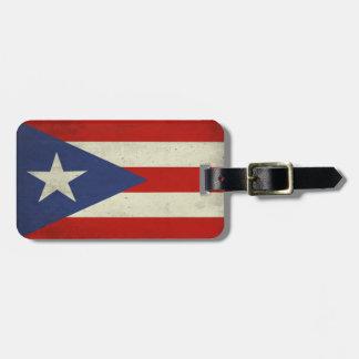 Etiqueta del equipaje con la bandera sucia de Puer Etiquetas De Equipaje