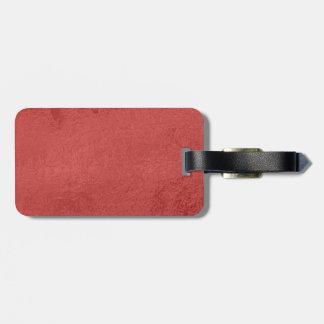 Etiqueta del equipaje con la correa de cuero etiqueta de maleta
