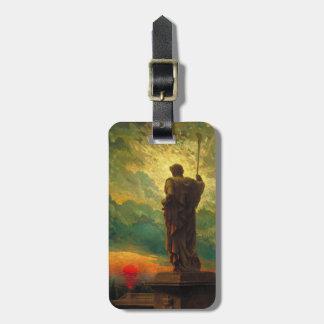 Etiqueta del equipaje con la pintura de James Carr