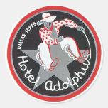 Etiqueta del equipaje de Adolphus del hotel