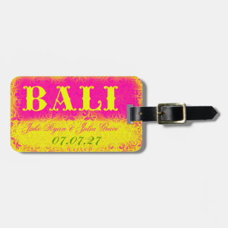 Etiqueta del equipaje de BALI Etiquetas Bolsa